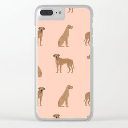Great Dane dog gifts must have pure breed great danes dog pattern Clear iPhone Case