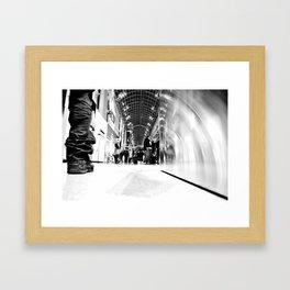 I stand. Framed Art Print