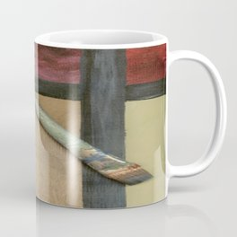 Artist Brush On Abstract Copper Canvas Artwork - Vintage - Modern Art - Painter Coffee Mug