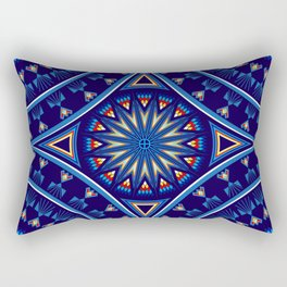 Blue Fire Keepers Rectangular Pillow