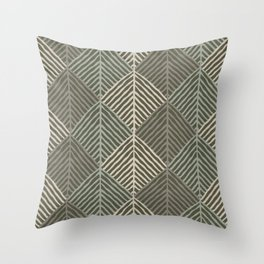 Shades of forest. Modern pattern Throw Pillow