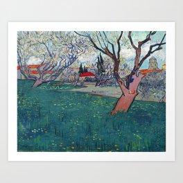 Vincent Van Gogh - Orchards in Blossom (new color edit) Art Print