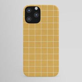 Small Grid Pattern - Mustard Yellow iPhone Case