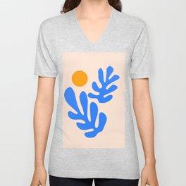 Henri Matisse - Leaves - Blue Unisex V-Neck
