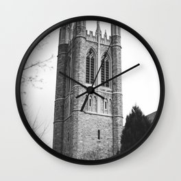 black and white steeple Wall Clock