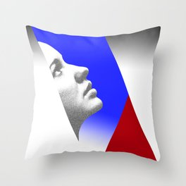 Looking at the sky. Abstract. Throw Pillow