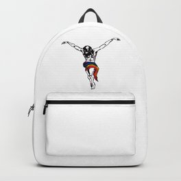 Christ Wearing Rainbow LGBTQ Loincloth Isolated Backpack