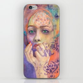 Queen Arabela with Blue eyes iPhone Skin