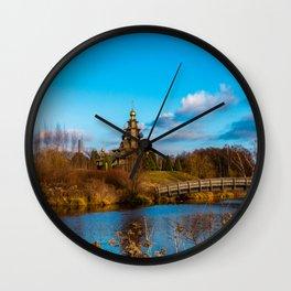 Landscape whith church Wall Clock