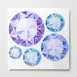 Diamonds * cool hue Metal Print