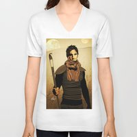 dune V-neck T-shirts featuring DUNE by Storm Media