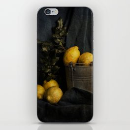 Cassic still life with lemons iPhone Skin