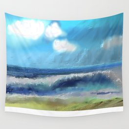 Ocean With Awesome Energy Wall Tapestry