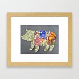 Recycled China Pig Framed Art Print