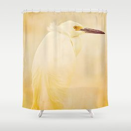 Elegance of a Snowy Egret Shower Curtain