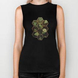 Bees in Space Biker Tank