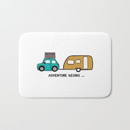 Adventure begins Bath Mat