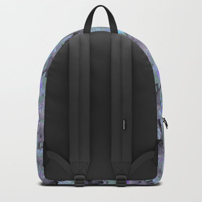 Sweet Elephants in Purple and Grey Backpack