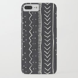 Moroccan Stripe in Black and White iPhone Case