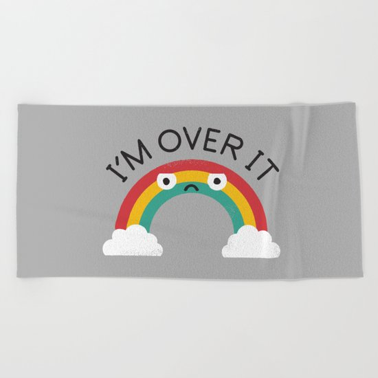 Above Bored Beach Towel