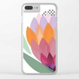 South African King Protea flower Clear iPhone Case