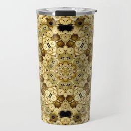 Buttons Brass Travel Mug