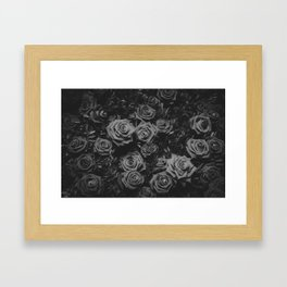 The Roses (Black and White) Framed Art Print