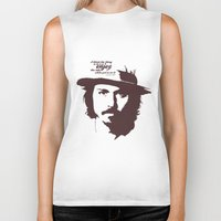 johnny depp Biker Tanks featuring Lab No. 4 - Johnny Depp Motivational quotes Poster by Lab No. 4