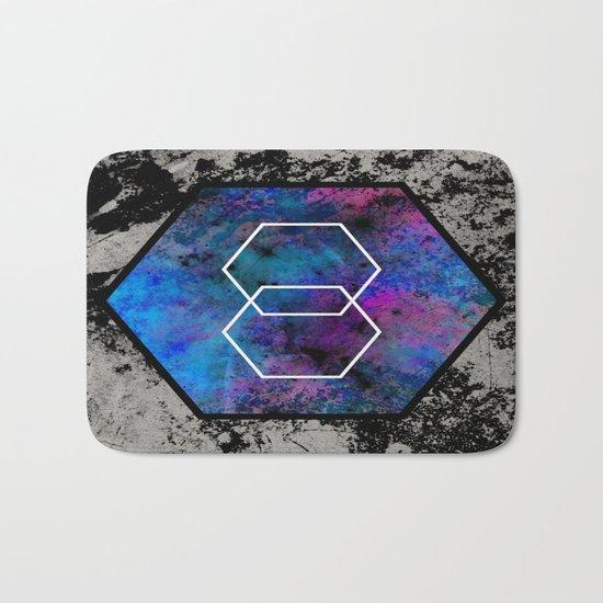 TEXtured HEX - Abstract, geometric, textured artwork Bath Mat