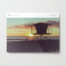 Pantone: Malibu II Metal Print