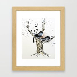 Panda in the Tree Framed Art Print