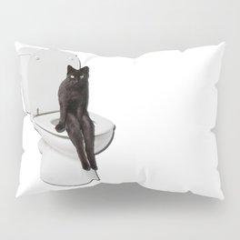 Toilet Cat Pillow Sham