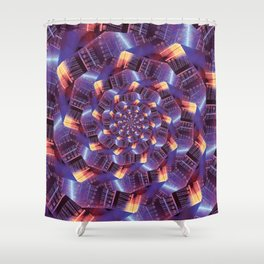 Spiraling Circuits Shower Curtain