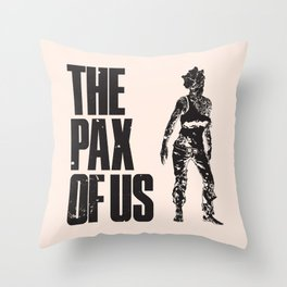The PAX of Us Black Throw Pillow