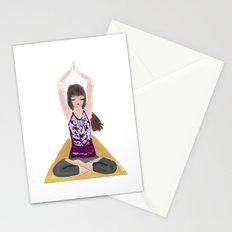 Yoga Girl Stationery Cards