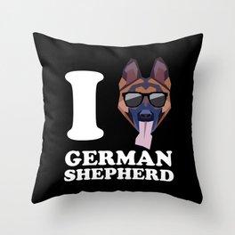 I Love German Shepherd modern v2 Throw Pillow