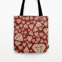 diamond Tote Bags featuring diamond by Landon Sheely