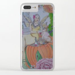 Fairy and Bunny Clear iPhone Case