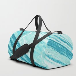 Abstract Marble - Teal Turquoise Duffle Bag