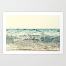 Vintage Waves Art Print