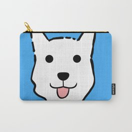 Malachi the Huskimo Dog (Blue) Carry-All Pouch