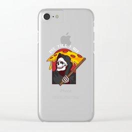 Mens Pie Till I Die Shirt Funny Pizza T-Shirt I Grim Reaper Pizza Pie Till I Die Shirt Clear iPhone Case