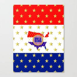 American Stars And Stripes Canvas Print