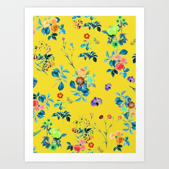 Floral Shower || #society6 #decor #buyart Art Print