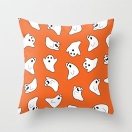 Spooky ghost pattern Throw Pillow