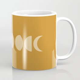 Minimal Moon Phases - Orange Coffee Mug