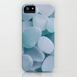 Aqua Sea Glass - Up Close & Personal iPhone Case