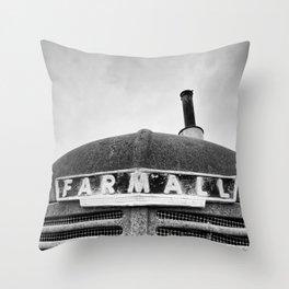 Old Rusty Farmall Throw Pillow