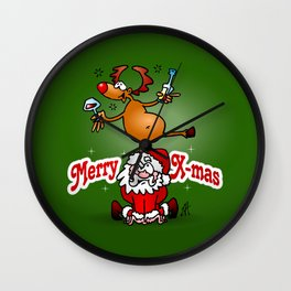 Merry X-mas Wall Clock