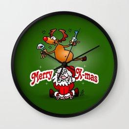Merry X-mas Wall Clock